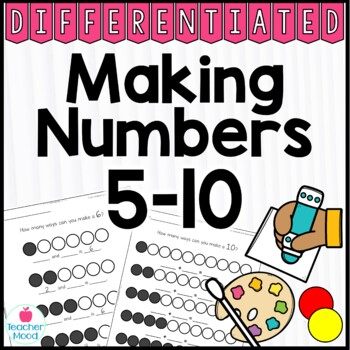 Making Numbers 5-10 Common Core Math Work Station Recording Sheets Composing