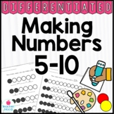 Making Numbers 5-10 Common Core Math Work Station Recordin