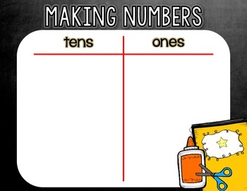 Making Numbers  - Back-to-School Place Value Center {Through the Year Sampler}