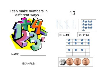 Making Numbers Booklet