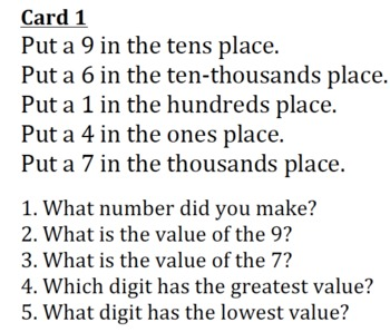 Making Numbers Place Value Activity