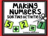 Making Numbers Sorting Activities