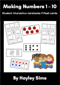 Making Numbers To Ten Booklet and Flash Cards