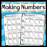 Making Numbers Worksheets (unknown addends)