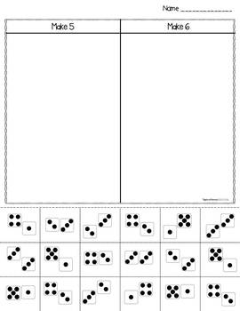 Making Numbers to 10 Cut and Paste - Differentiated Activity