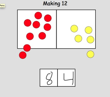 Making Numbers using two groups - Math - Smartboard.
