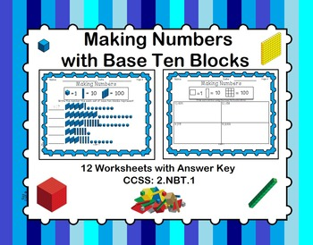 Making Numbers with Base Ten Blocks - 2.NBT.1