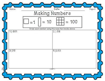 Making Numbers with Base Ten Blocks - 2.NBT.1
