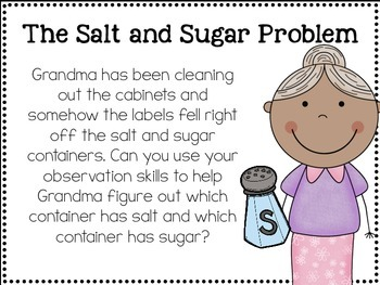 Making Observations Using The 5 Senses: The Salt and Sugar Problem