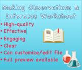 Making Observations and Inferences Worksheet