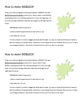 Making Oobleck: A FREE Science Lesson for Preschool or Kindergarten