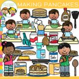 Making Pancakes Clip Art {How to Make Pancakes Clip Art}
