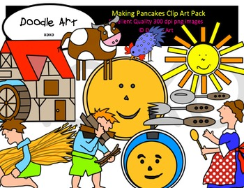 Making Pancakes Clipart Pack