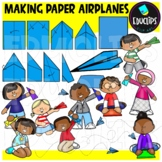 Making Paper Airplanes Clip Art Set {Educlips clipart}