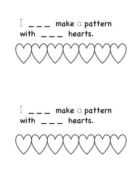 Making Patterns Mini Book - Kindergarten Literacy Center and Patterning Skills