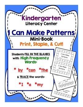Making Patterns Mini Book - Kindergarten Literacy Center a