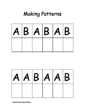 Making Patterns Template