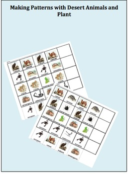Making Patterns with Desert Animals and Plants