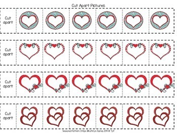 Making Patterns with Valentines FREE