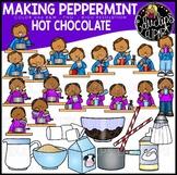 Making Peppermint Hot Chocolate Clip Art Set {Educlips Clipart}