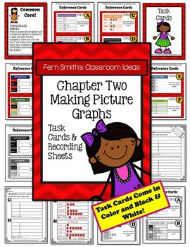 3rd Grade Go Math Chapter Two 2.3 Making Picture Graphs Task Cards