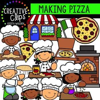 Making Pizza Clipart {Creative Clips Clipart}
