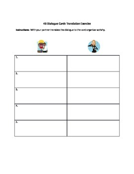 Making Plans: Dialogue Organizer and Translation Activity