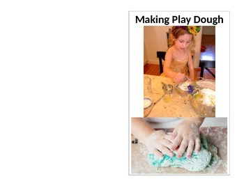 Making Play Dough - Pre-K Reading Foldable