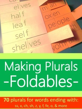 Making Plural Words Foldables {For Interactive Student Notebooks & Flashcards}