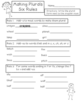 Singular and Plural Nouns: Second and Third Grade