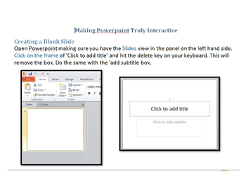 Making Powerpoint Truly Interactive
