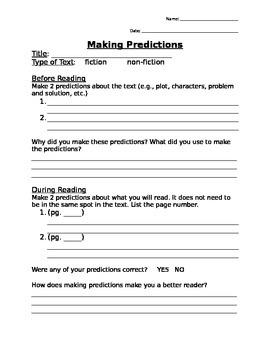 Making Predictions