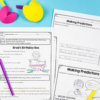 Making Predictions 1st Grade