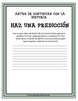Making Predictions-A Short Fantasy Story in Spanish for Reading Comprehension