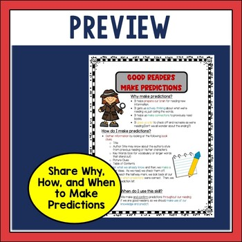 Making Predictions Anchor Chart and Foldable Activity for Modeling
