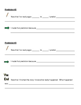 Making Predictions & Asking Questions Graphic Organizer