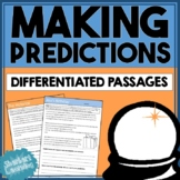 Making Predictions - Differentiated Passages with comprehension questions