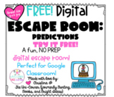 Making Predictions FREE!: Digital Escape Room | Distance L