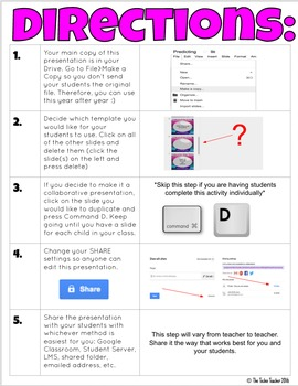 Making Predictions Activity in Google Slides™