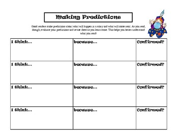 Making Predictions Graphic Organizer