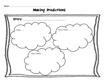 Making Predictions Graphic Organizers - Differentiated