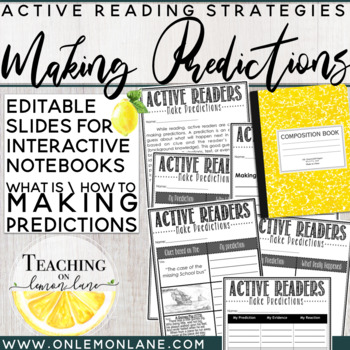 Making Predictions - Guided Reading - Reader's Workshop *Any Text *Editable