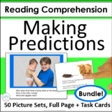 Making Predictions Picture Cards and Task Cards Bundle