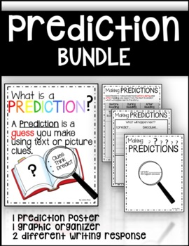 Predictions Poster and Graphic Organizer Bundle