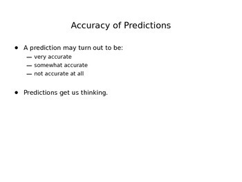 Making Predictions:  Predictions in 1899 for the Year 2000