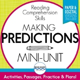 Predicting Passages, Worksheets, and Graphic Organizer for Making Predictions