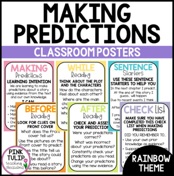Making Predictions Reading Posters - Classroom Decoration