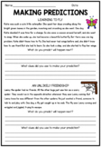 Making Predictions Reading Strategy Worksheet