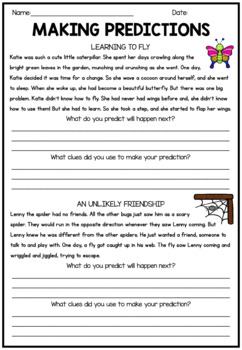 Making Predictions Worksheets Teachers Pay Teachers Use browser document reader options to download and/or print. making predictions worksheets