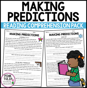 Making Predictions Reading Worksheet Pack By Pink Tulip Creations
